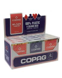 12 Decks Brick Box Playing Cards COPAG 4 Color