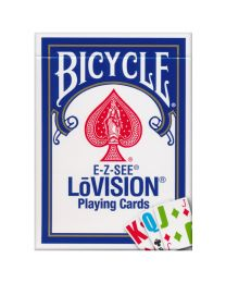 Bicycle E-Z-SEE LŌVISION Deck Blue