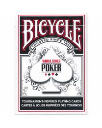 Bicycle World Series of Poker playing cards black