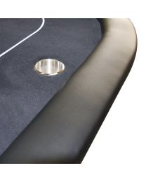 Poker table black with cupholders