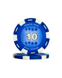 Colour poker chips blue 10