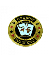 Poker Card Guard Cowboys Pair of King