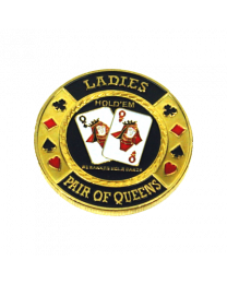 Poker Card Guard Ladies Pair of Queens
