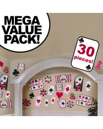 Casino Cardstock Decorations