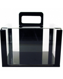 600 poker chip capacity clear acrylic carrier