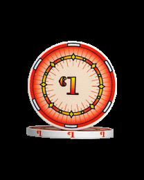 Ceramic pokerchips classics €1