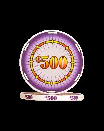 Ceramic pokerchips classics €500