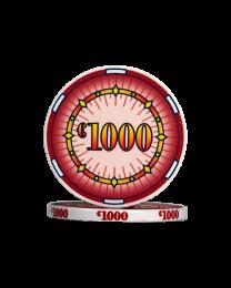 Ceramic pokerchips classics €1000