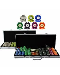 Color Cash 1,000 Plus Poker Chips Set
