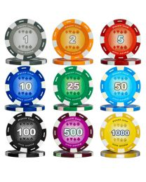 Colour poker set 500