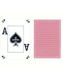 COPAG Texas Hold'em Poker Cards Peek Index red