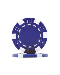 Dice Poker Chips Blue