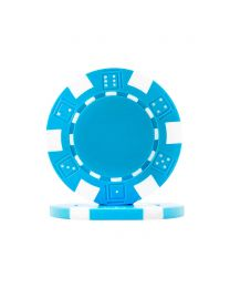 Dice Poker Chips Light Blue