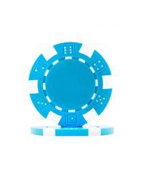 Dice Poker Chips Light Blue