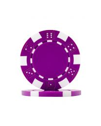 Dice Poker Chips Purple