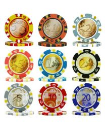 Euro Money Poker Chips