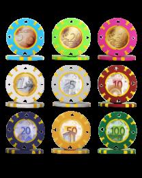 Poker chips Euro Serie