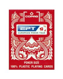 European Poker Tour Copag cards red