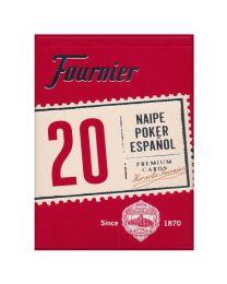 Fournier 20 Naipe Poker Español Cards Rojo