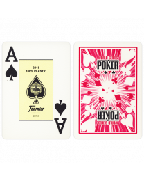 WSOP Plastic Poker Playing Cards Red by Fournier