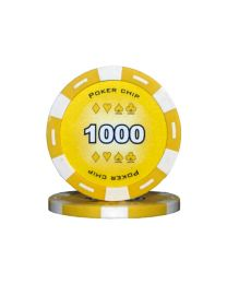 Colour poker chips yellow 1000