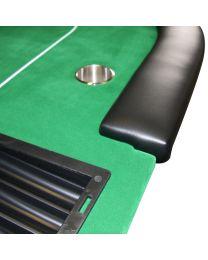 Poker Table Poker Dealer Tray Green