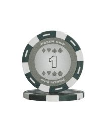 Colour poker chips gray 1