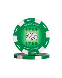 Colour poker chips green 25