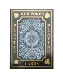 KEM plastic playing cards blue