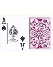 KEM Poker Deck Jacquard Burgundy and Green
