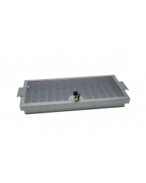Metal aluminium poker chip tray with lockable cover