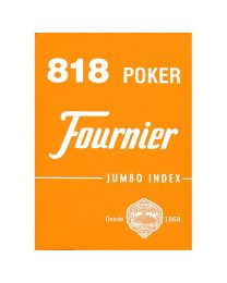 Fournier orange 818 poker cards jumbo index