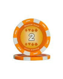 Colour poker chips orange 2