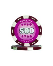 Colour poker chips purple 500