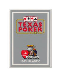 Gray Texas Poker Playing Cards Modiano