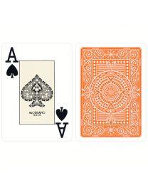 Orange Texas Poker Playing Cards Modiano
