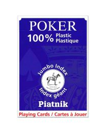 Plastic poker cards piatnik jumbo index blue