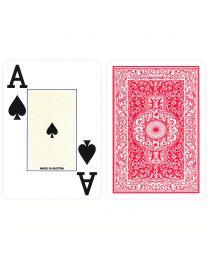 Poker 100% Plastic Jumbo Index Piatnik Playing Cards Red