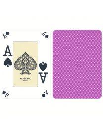 Modiano Plastic Poker Index Casino Cards Purple
