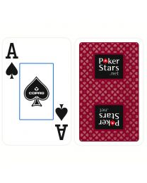 COPAG Plastic Bridge Playing Cards PokerStars Red