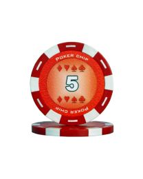 Colour poker chips red 5