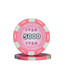 Colour poker chips pink 5000