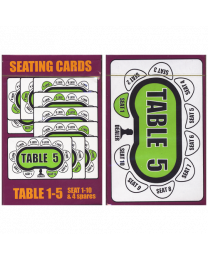 Poker Seating Cards Table 1-5