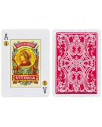 Fournier 20 Naipe Poker Español Cards Red