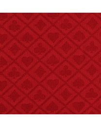 Suited poker cloth red