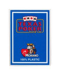 Texas Poker Holdem Modiano Cards Light Blue