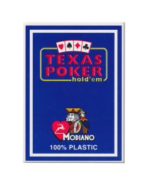 Texas Poker Holdem Modiano Cards Blue