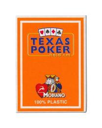 Texas Poker Holdem Modiano Cards Orange
