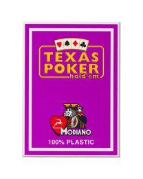 Texas Poker Holdem Modiano Cards Purple