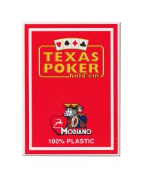 Texas Poker Holdem Modiano Cards Red